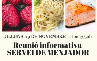 Sessió informativa del Servei de Menjador